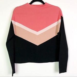 & Other Stories Modest Cropped Colorblock Sweater